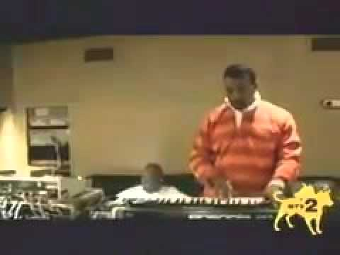 Kanye during the making of Late Registration in '04