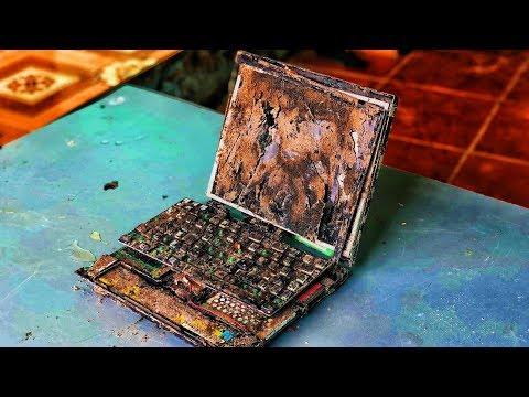 Restoration a destroyed 20-year-old LENOVO laptop | Rebuild and restore LENOVO laptops