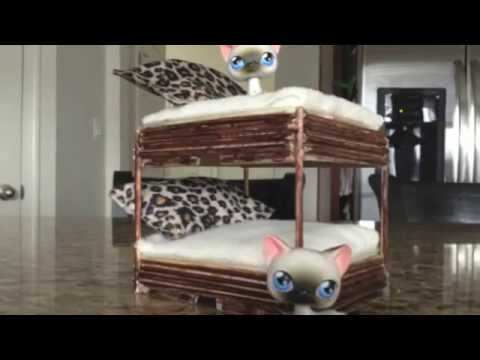 littlest pet shop making a lps bunk bed youtube. Black Bedroom Furniture Sets. Home Design Ideas