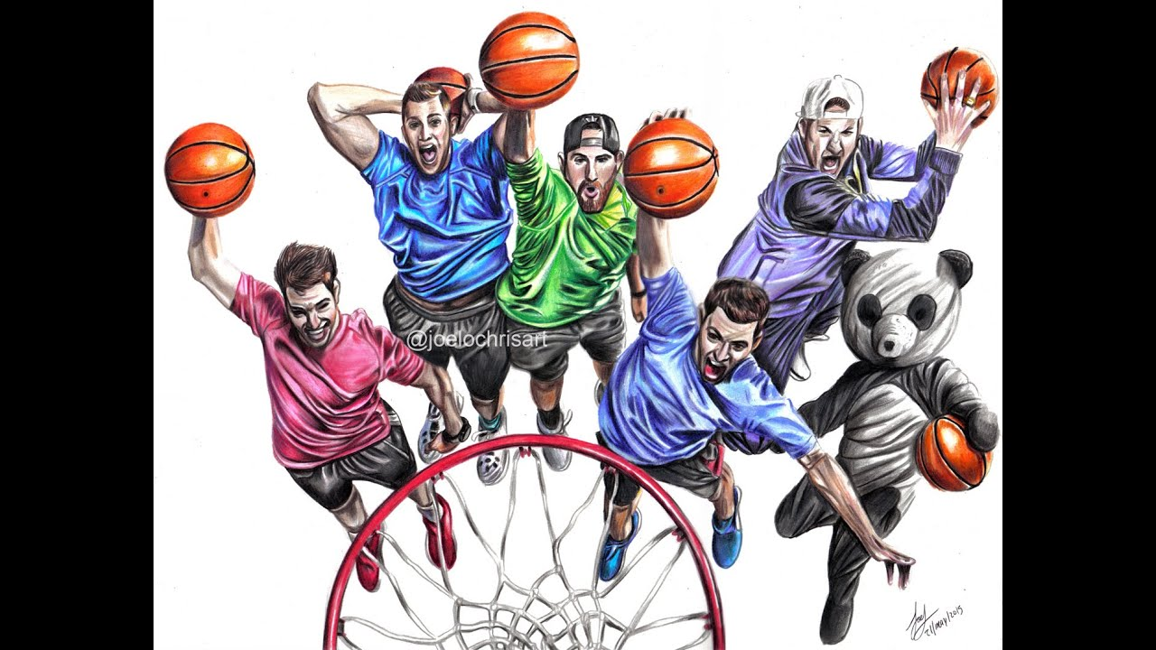 Dude perfect trick shots superstars drawing youtube for Dude perfect coloring pages