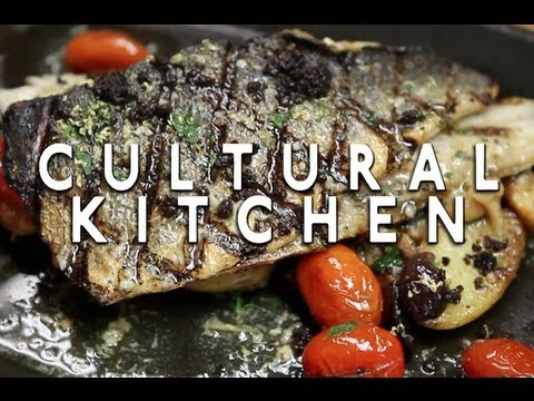 Greek Branzino Recipe with Michael Psilakis - YouTube