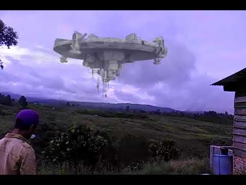 penampakan ufo di ajinembah
