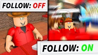 When Flamingo turns his Roblox FOLLOW on...