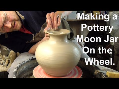 Making my Best Pottery Moon Jar on the Wheel.