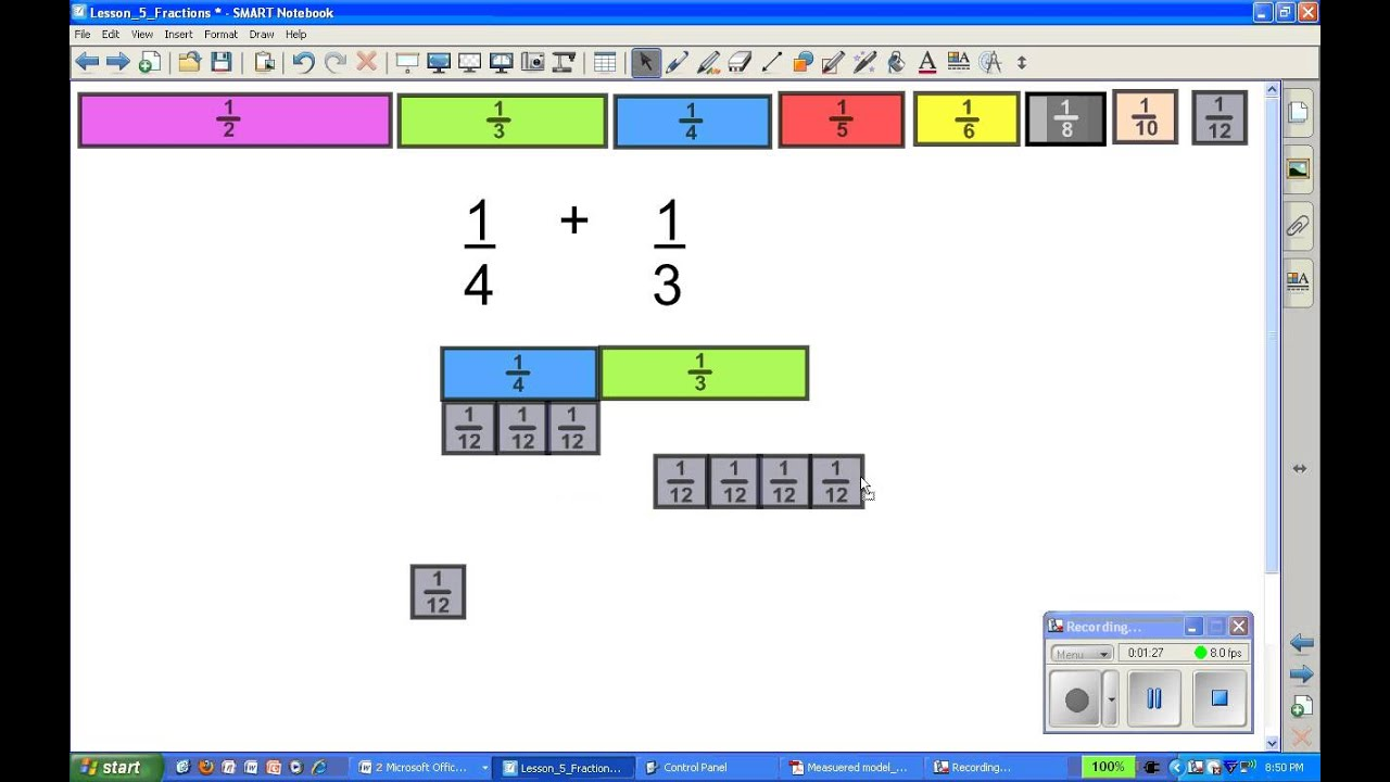 Fraction Strips Worksheets - preschool fraction strip ...
