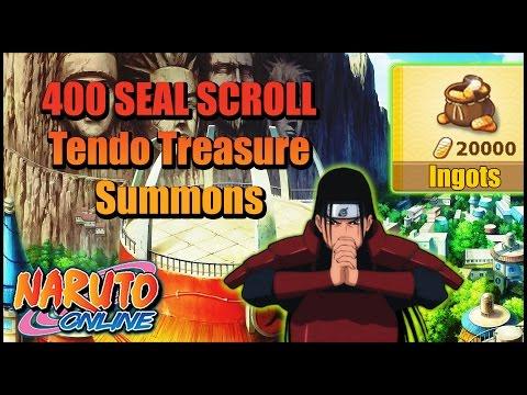 Naruto Online | Tendo Treasure Summons | 400 Seal Scrolls!