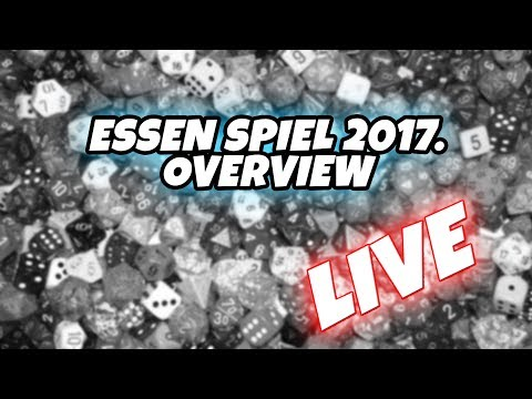 Life of a Board Gamer Live overview of Essen Spiel 2017. games