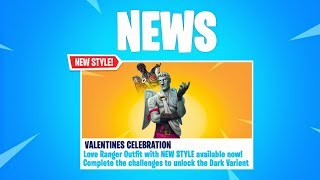 "How To Unlock ""NEW FREE DARK LOVE RANGER"" Skin In Fortnite (Valentines Exclusive Skin)"