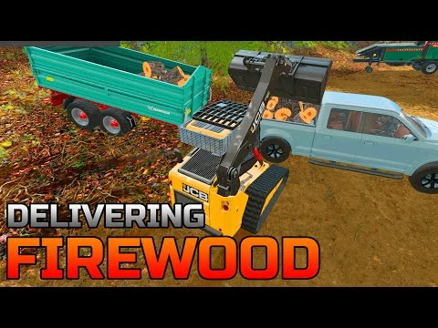 FARMING SIMULATOR 2017 | DELIVERING FIREWOOD | PROCESSING FIREWOOD | LOGGING