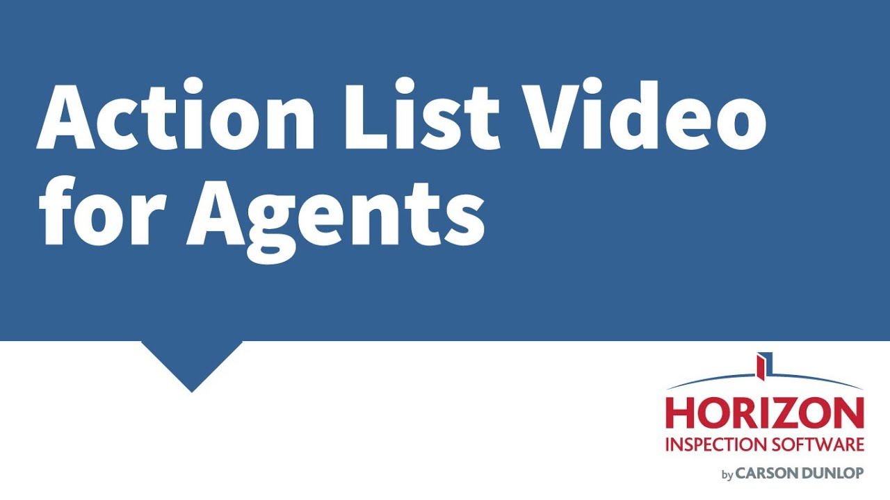 Action List video for Agents
