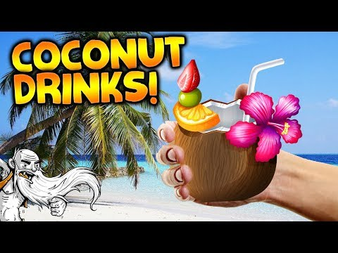 NEW consumable coconut drinks Update! - Let's Play Stranded Deep Gameplay