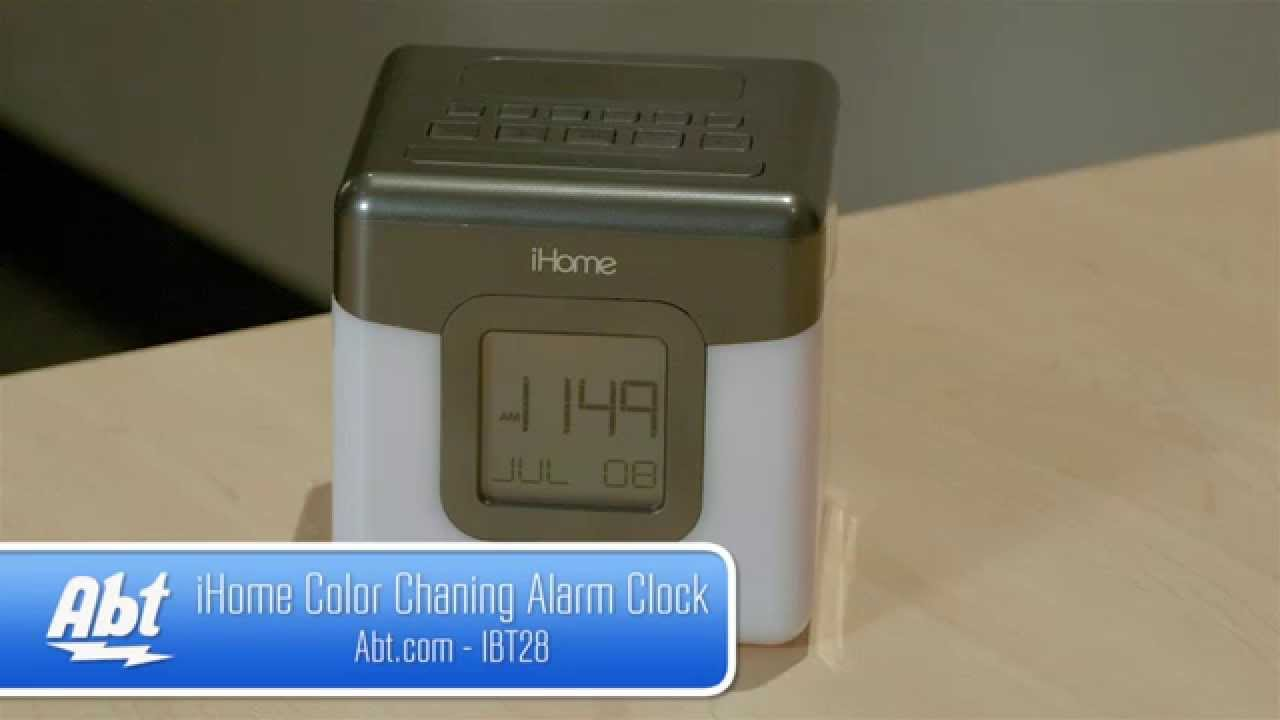 iHome Color Changing Bluetooth Alarm Clock IBT28GC Overview