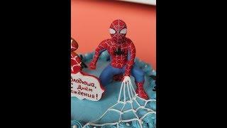 Как сделать Человека Паука Мастичная фигурка Оформление торта