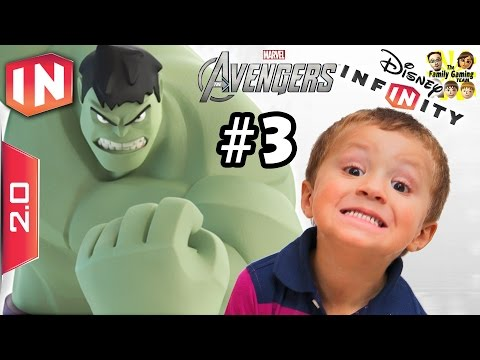 The Avengers Play Set - Part 3: HULK IN THE HOUSE!!!!! Disney Infinity 2.0 (Dad & Chase Commentary)