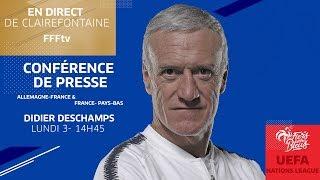 Équipe de France : la conférence de Didier Deschamps en direct (14h45)