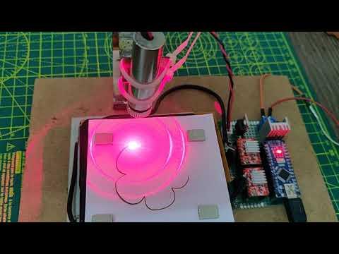 DIY Arduino CNC Laser paper cutter from DVD Drive