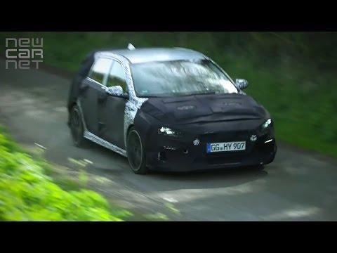 NEWCARNET Hyundai tests new i30 N hot hatch on Britains roads
