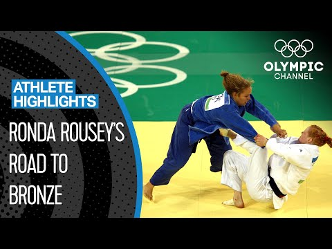 Ronda Rousey 🇺🇸 The 1st US-American to Win an Olympic Medal in Women's Judo | Athlete Highlights