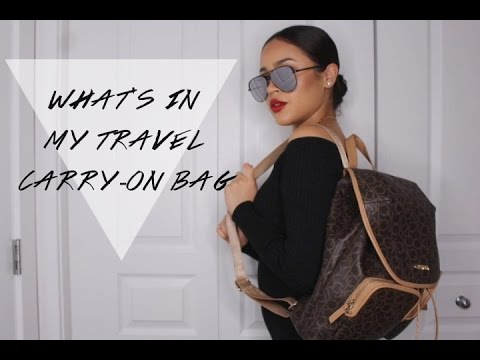 WHAT'S IN MY BAG/CARRY-ON: TRAVEL ESSENTIALS! | Maria Bethany