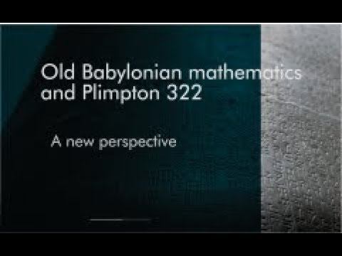 Old Babylonian Mathematics and Plimpton 322: A new perspective (introduction)