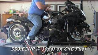 553HP Turbo Hayabusa dyno pull