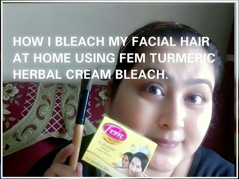 How to Bleach Facial Hair using Fem TURMERIC herbal cream bleach.