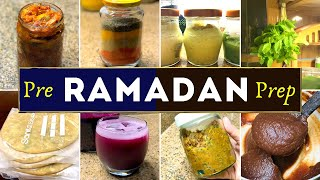 Ramadan Preparations/Frozen Aloo Paratha/Frozen Masala/Ginger-Garlic paste/Dates paste/Pickle/Squash