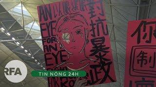 Tin nóng 24H | Chiếm ga chính, người biểu tình làm tê liệt các chuyến bay ra vào Hong Kong