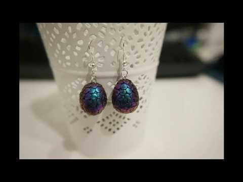 DIY Dragon Egg Charm | Clay Earring Tutorial | Jewelry How To