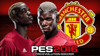 pes 2016 paul pogba skills goals manchester united hd 60 fps