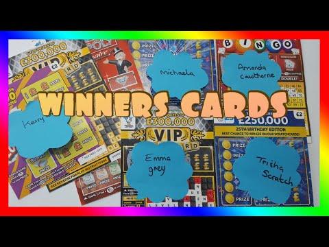 Winners Scratch Cards NATIONAL LOTTERY UK