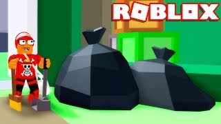 I TURNED a garbage MAN and CLEANED the CITY of ROBLOX in the TRASH SIMULATOR → Garbage Simulator 🎮