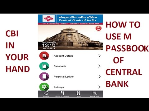 How to use Central Bank Of India M Passbook Application