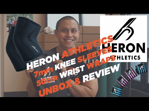 HERON ATHLETICS - 7MM KNEE SLEEVES AND 50CM WRIST WRAPS - UNBOXING & REVIEW