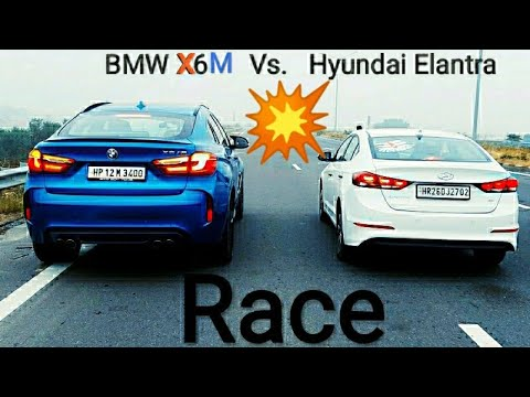 BMW X6 M VS HYUNDAI ELANTRA (BIG BOY TOY)
