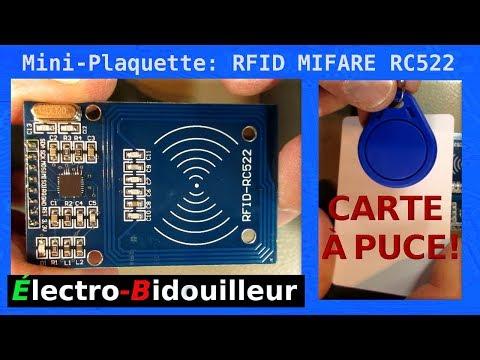 EB_#204 Mini-Plaquette: RFID MIFARE RC522, Carte-Puce et Porte-Clé