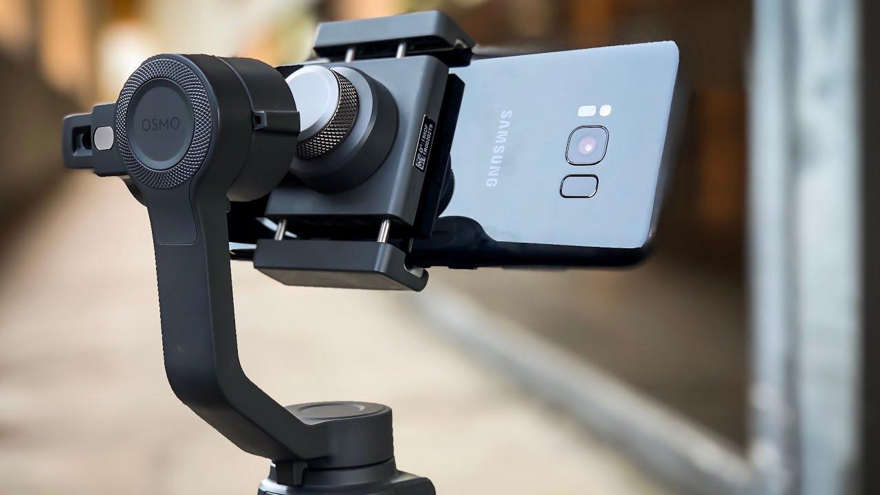 DJI Osmo Mobile 2 Samsung Galaxy S8 Plus & iPhone X Comparison