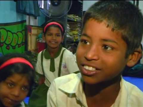 For street kids in space-starved Indian city, school is in a container