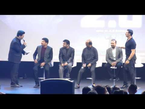 2.0 Audio Launch Video Part 2    Rajinikanth    Akshay Kumar    Shankar    AR Rehman    Amy jackson