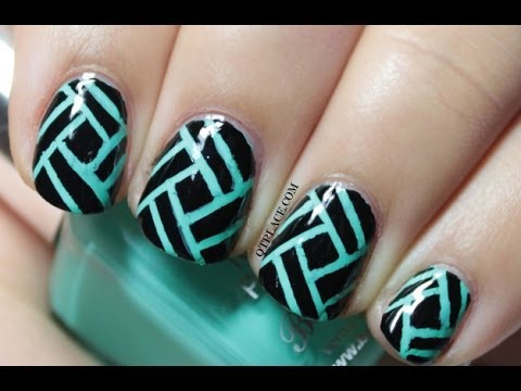 Striping tape nail art - Striping Tape Nail Art - YouTube