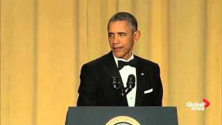 Barack Obama takes lighthearted jab at Justin Trudeau at White House correspondents' dinner thumbnail