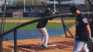 Yankees' Miguel Andujar takes BP