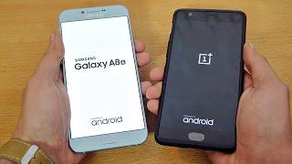 Samsung Galaxy A8 (2016) vs OnePlus 3 - Speed Test! (4K)