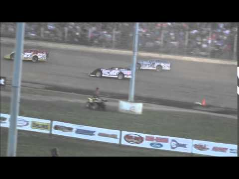 Lucas Oil Late Model Dirt Series Heat #4 from Portsmouth Raceway Park 7/4/14.