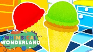 Learn Colors with Ice Cream Cones | Learn Colors & Shapes for Children | Whimsical Wonderland