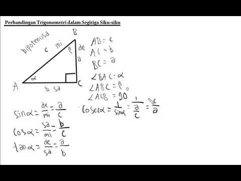 Perbandingan Trigonometri Dalam Segitiga Siku Siku Part 1 Youtube