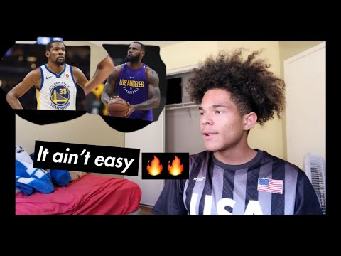 """LeBron James And Kevin Durant Leaked Rap Song Reaction! """"It Aint Easy"""""""