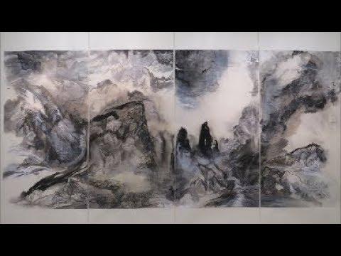 筆墨承載- 旅美畫家 黃薇 畫展 於臺北中正紀念堂 - YouTube