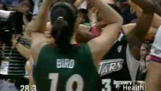 2005 WNBA ASG Skills Challenge Finals Hammon Bird