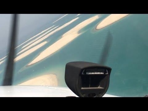 Flying over world island | Dubai | Cessna 172 | 2018